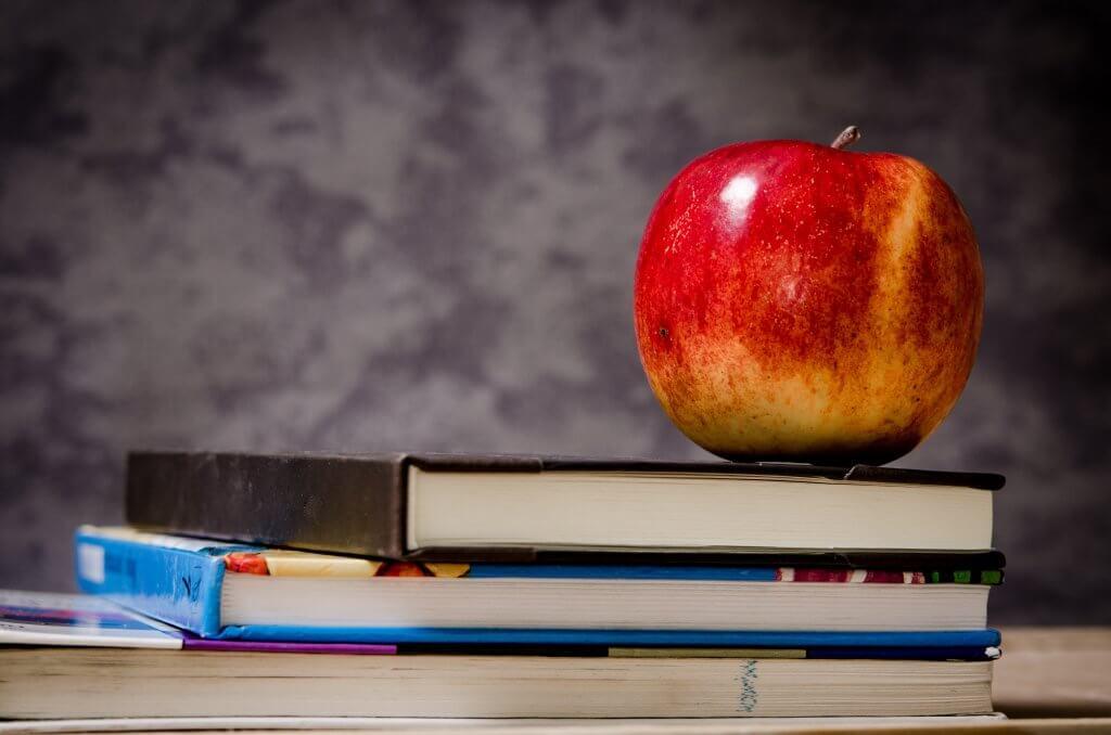 Around Canton apple-book-stack-school-lunch